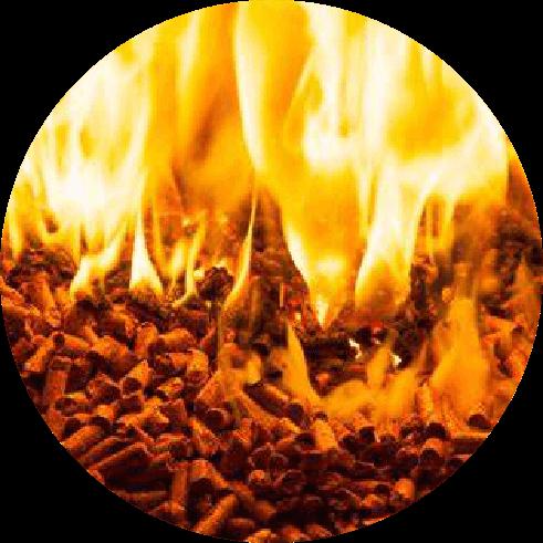 home pellets burning